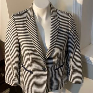 The Limited navy and white stripe blazer